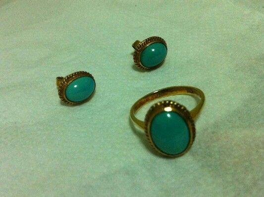 *Antique Turquoise Set in --- Stuffonline.ecrater.com ---
