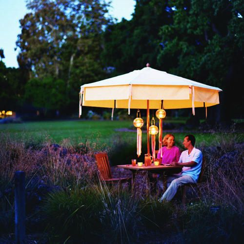 Party umbrella < Favorite backyard projects: Raised beds, benches, cabanas, paths, fountains,