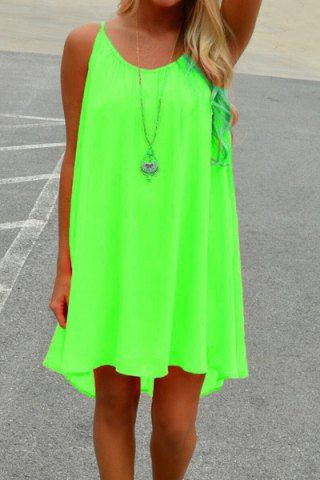 Stylish Spaghetti Strap Color Block Chiffon Women's Dress Chiffon Dresses | RoseGal.com Mobile