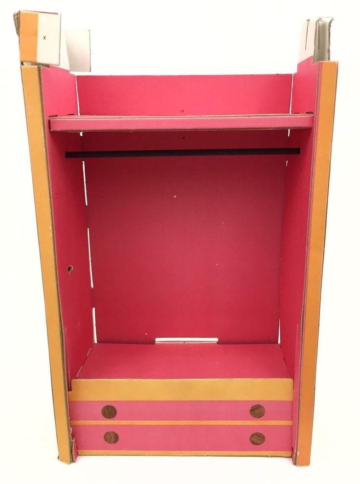 Ideal Vtg Barbie Dream House Replacement Cardboard Closet Wardrobe