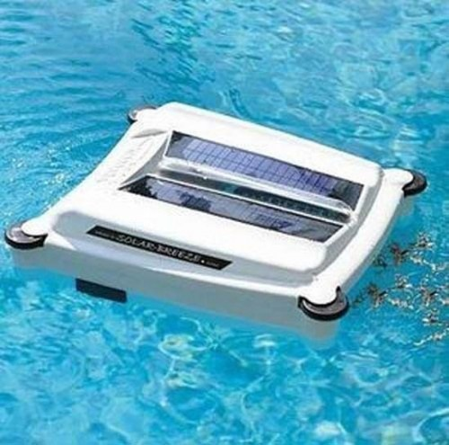 Early version of the #Solar-Breeze Solar Powered Pool Skimmer