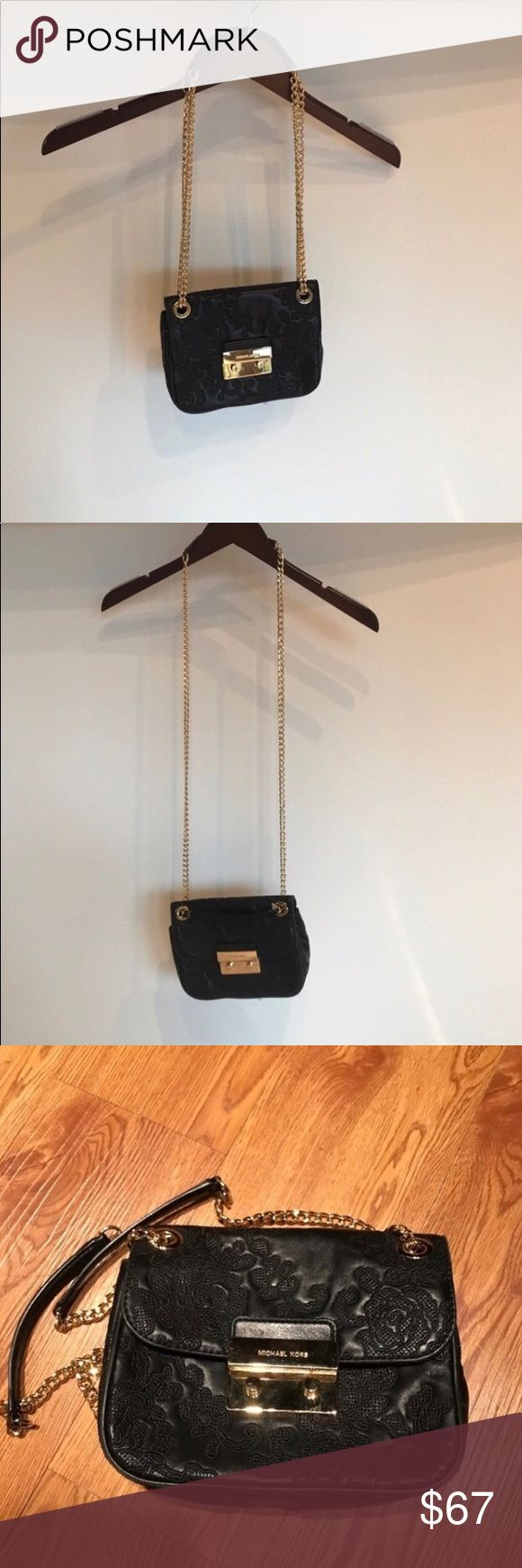 Michael Kors. 'Sloan' crossbody/shoulder bag -I make awesome private offers, and do free shipping on bundles!! Single-item price is firm. ANY wear/imperfections (&perfections!) are considered in price listed.  -My Closet is 100% Authentic -Updated with new often, I love keeping a rotating wardrobe. Shopping & Selling!  -Same-day ship promise when possible  CONDITION & DETAILS:  'Sloan' crossbody/shoulder; black, gold hardware; Great condition, stitching loose in one spot but unnoticeable…