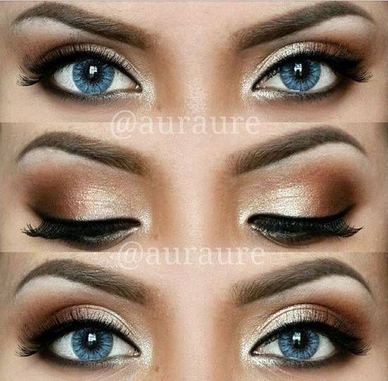 Shimmery Bronze Eyeshadow.