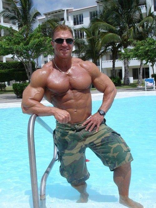 Pool pecs | muscle hotness | Pinterest