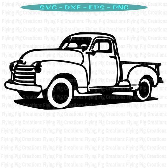 Truck Svg Old Truck Svg Antique Truck Svg Chevy Truck Svg Ford