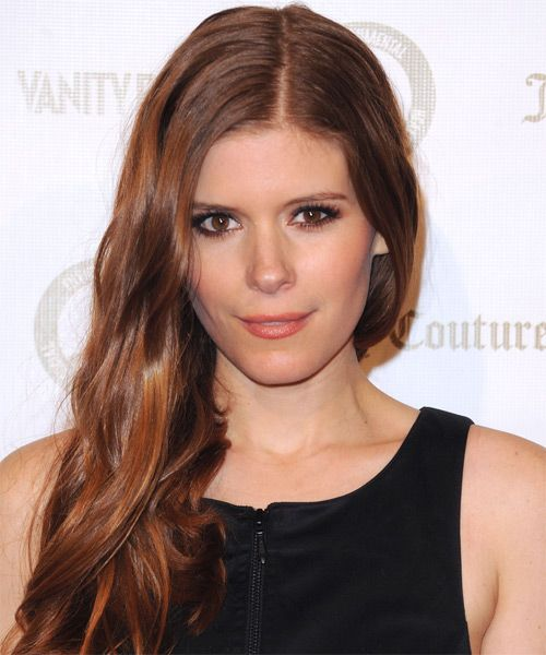 Kate Mara Long Straight Hairstyle - Medium Red (Auburn)