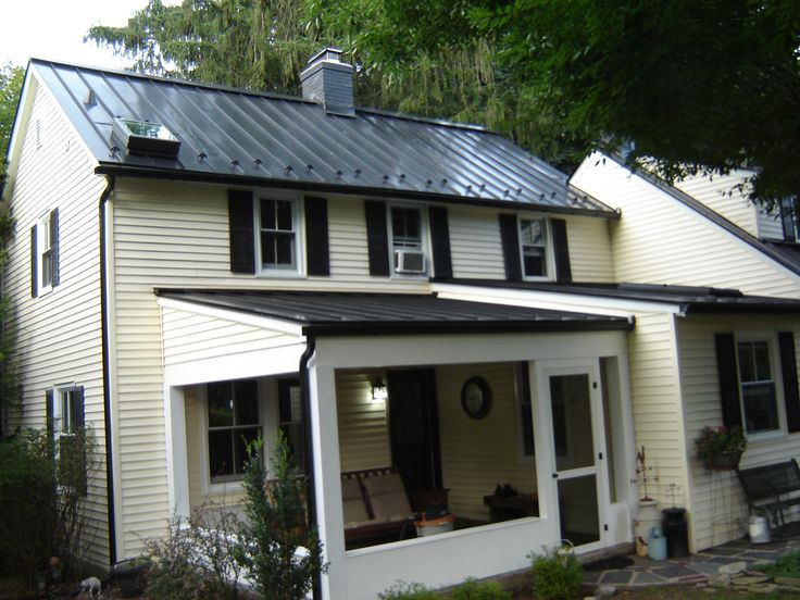 Matte Black Standing Seam Metal Roof Ideas For The House