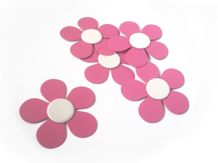 "Doc McStuffins 3"" Flower Die Cut for Party Decorations or Favor Tags - Textured 80lb Cardstock - You Pick the Color. $3.60, via Etsy."