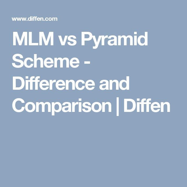 MLM vs Pyramid Scheme - Difference and Comparison | Diffen