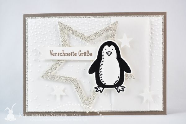 Stampin Up Es schneit Sternkollektion Leise rieselt Pinguin Glitzer 01