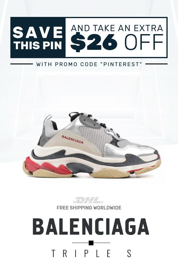 2a6aecc13bfe Buy Cheap Balenciaga Triple S Trainers Sliver   Black   Red sneakers   sneakers  fashion