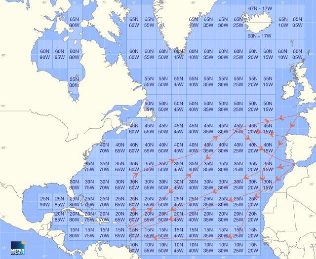 Météo Marine Grand Large : Prévisions METEO MARINE DETAILLEE à 14 jours