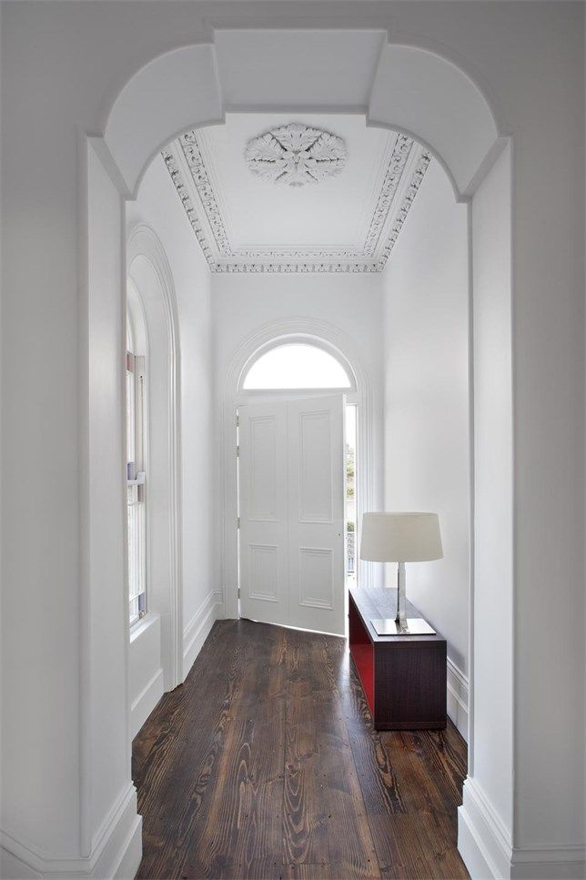 ENTRYWAY LOVE - Ailtireacht's recent restoration / renovation of an 1860s Victorian townhouse.  Photo by Barbara Corsico