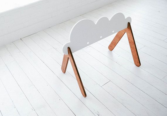 Wooden Baby Gym Cloud Custom Colors van WhiteOakWoodworks op Etsy