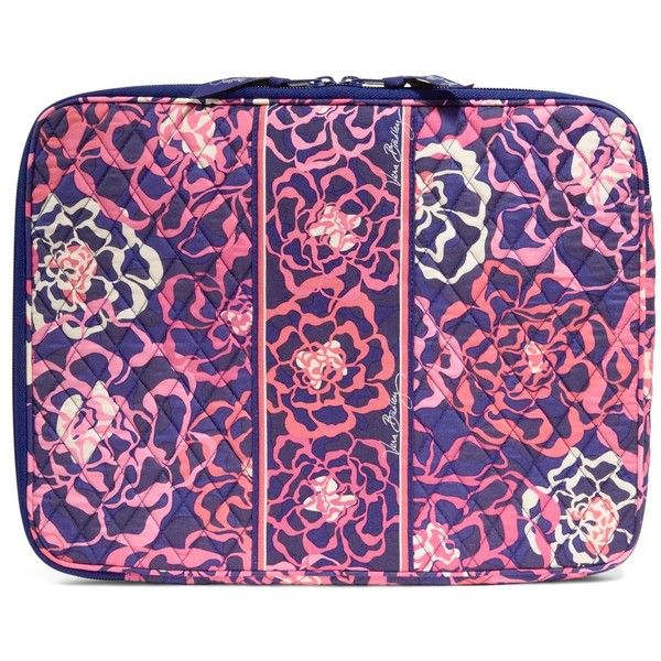 Vera Bradley Laptop Sleeve in Katalina Pink ($38) ❤ liked on Polyvore featuring accessories, tech accessories, katalina pink, vera bradley laptop case, laptop case, vera bradley, laptop sleeve cases and padded laptop case