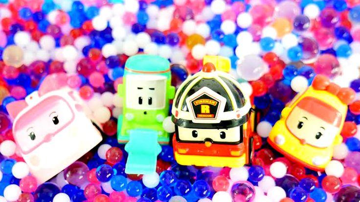 Видео для детей: Робокар Поли в бассейне с шариками ОРБИЗ! ПОЛИ и его др...