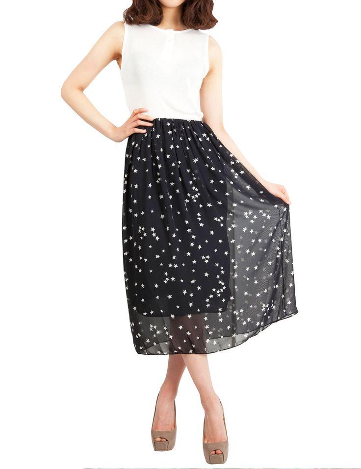 PorStyle Star Print Chiffon Long Dress $44.99 http://porstyle.com/  http://www.amazon.com/PorStyle-Women-Print-Chiffon-Dress/dp/B00DI2YKNA/ref=sr_1_25?s=apparel=UTF8=1375064626=1-25=porstyle