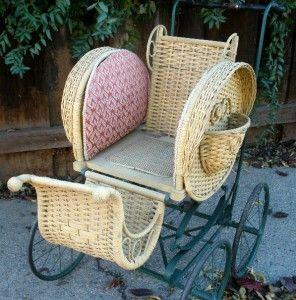 victorian baby carriage   ... KELLY BROTHERS Victorian Wicker Baby Stroller Doll Buggy Carriage Cart