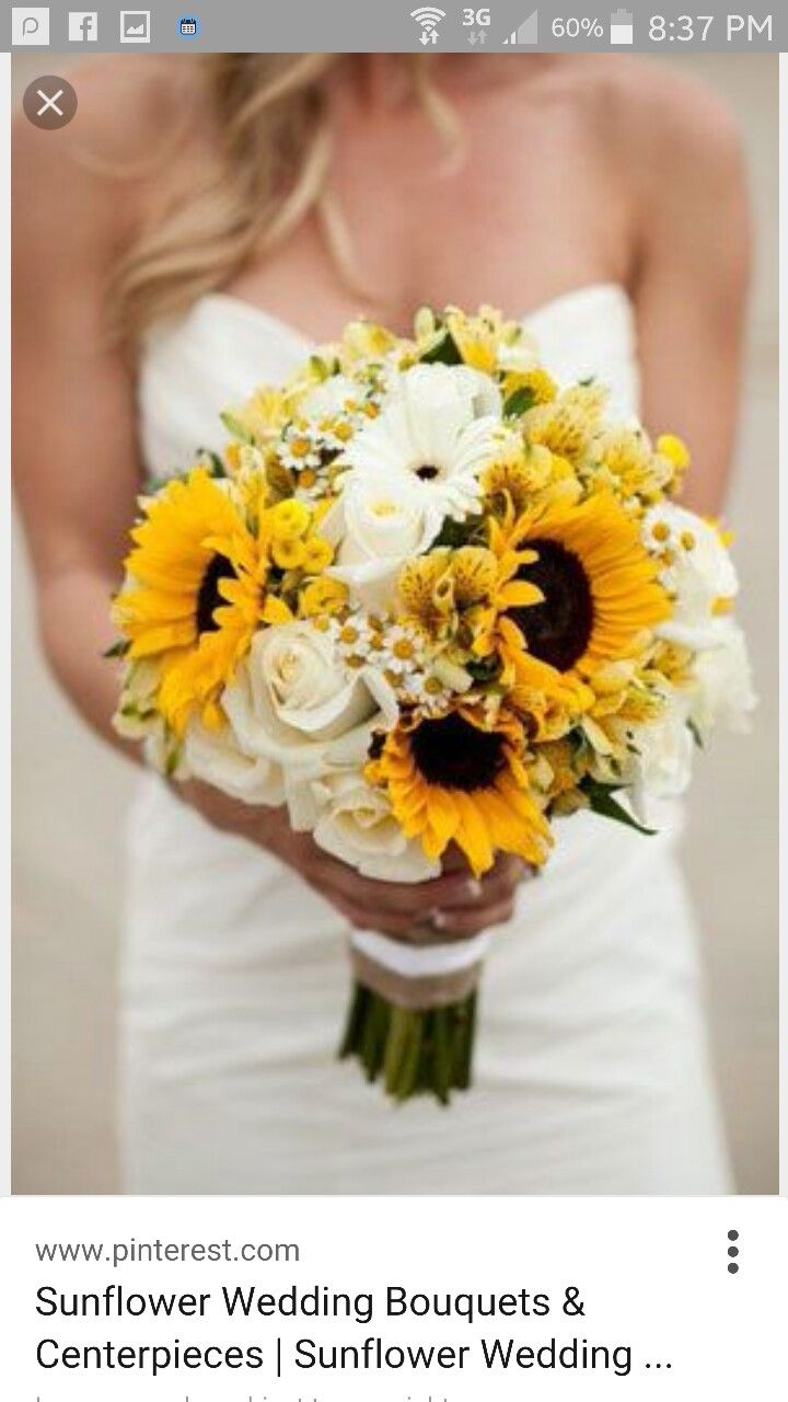 Your boquet. You could change the white roses for whit amaryllis to have a little bit of dad there. Then the bridesmaids flowers can be sunflowers and red amarylisis.