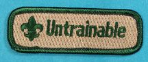 Patches :: Spoof Patches :: Spoof Trained Strips :: Untrainable Trained Strip GRN - Boy Scout Store - Boy Scout Collectibles & Memorabilia & Gifts