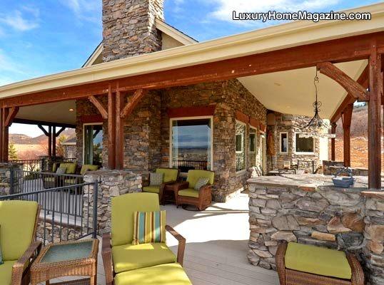 Luxury Home Magazine Denver #Luxury #Homes #Deck #Stone #Porch #Design #Exterior