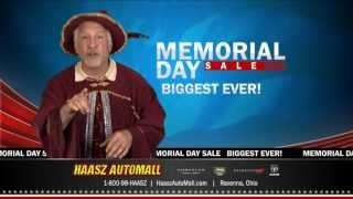Haasz Automall Biggest Memorial Day Car Sale, via YouTube.