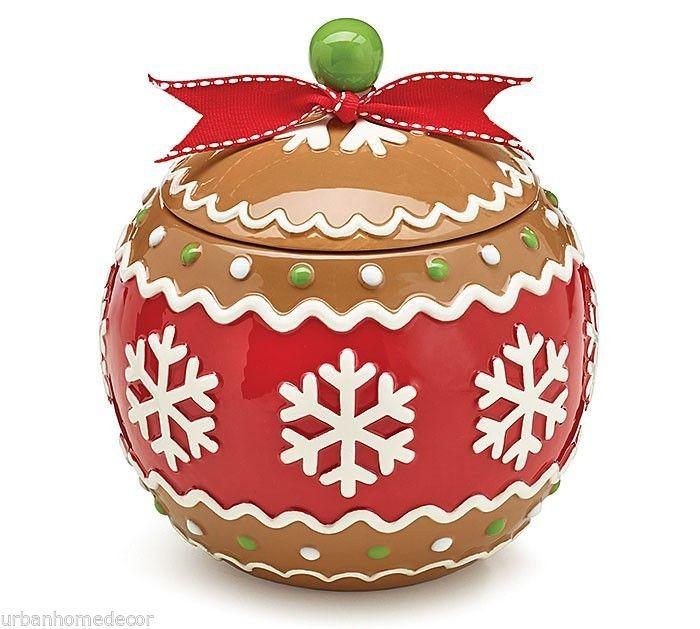 Новый керамический Jar Gingerjoy Cookie Праздник Рождества Христова Бертон Бертон Подарок | eBay