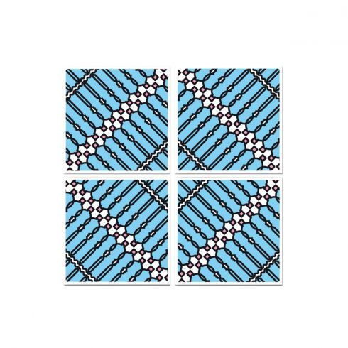 I 4 moduli possono essere ruotati di 90° o 180°, in senso orario o antiorario, per dare forma a nuove geometrie: una X, un rombo. E perché no, posizionati uno di seguito all'altro a formare una lunga linea ZIG-ZAG... Questo fine settimana, giocate con l'immaginazione insieme a PIT-POP! http://www.lovethesign.com/pit-pop-disegni-superficie/tela-intersezioni-di-bottiglie-50x50cm