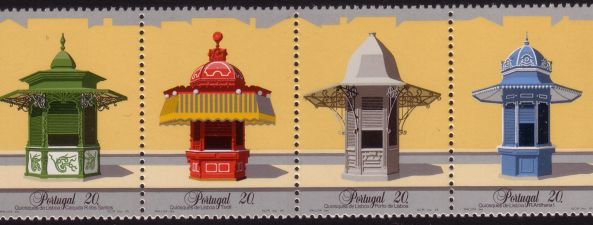 The stamps were designed by Portuguese painter Maluda, lithographed by the Mint on enamelled paper sheets and circulated from 19 March 1985 to 31 December 1992.