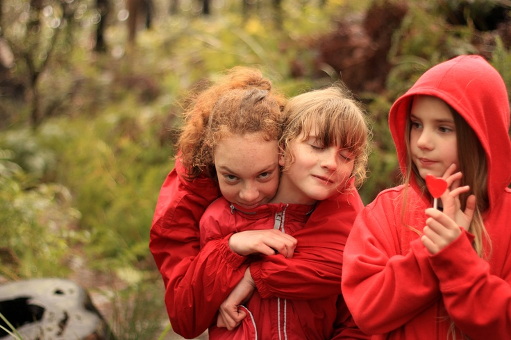 Madison, Amy and Sarah - walking in the Grampians (red theme was coincidental).