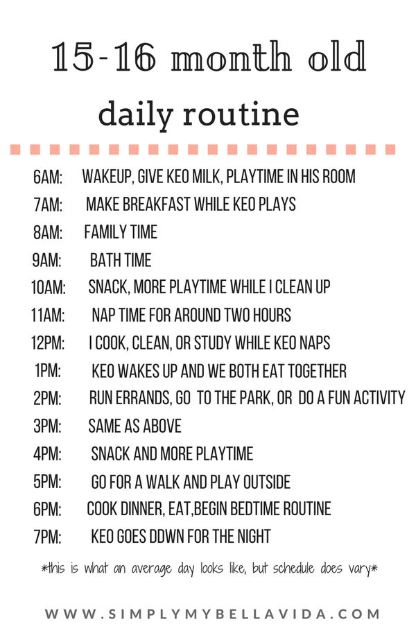 toddler daily routine
