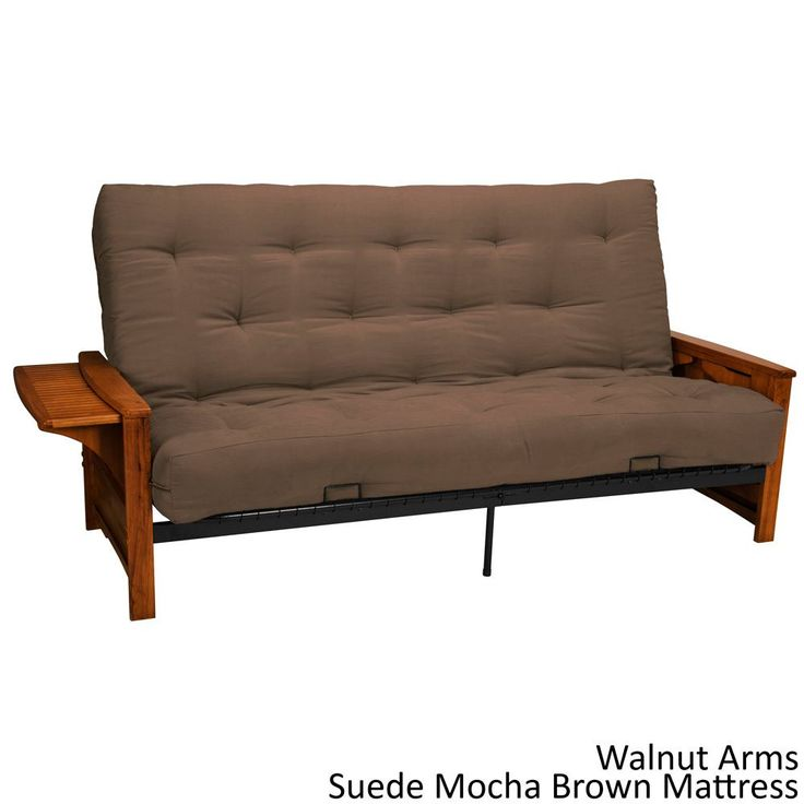 EpicFurnishings Bellevue with Retractable Tables Transitional-style Full-size Inner Spring Futon Sofa Sleeper Bed