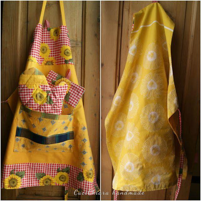 """Cuci Chiara handmade: GREMBIULE DA CUCINA """"GIRASOLE"""""""