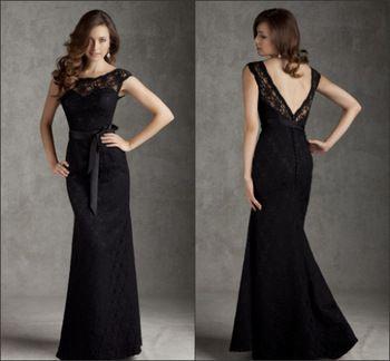 vestido negro largo con encaje ali express - Buscar con Google