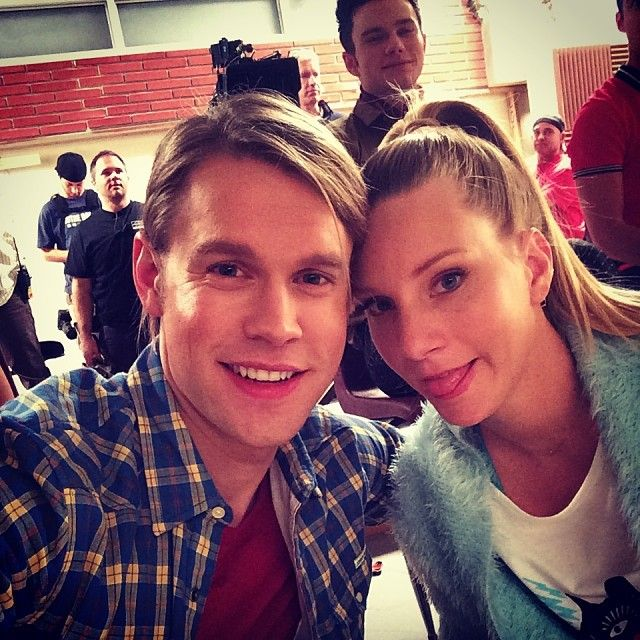 Chord Overstreet and Heather Morris