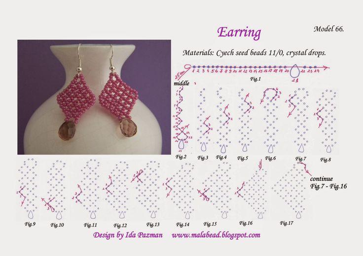 beadwork step by step, Model 66.