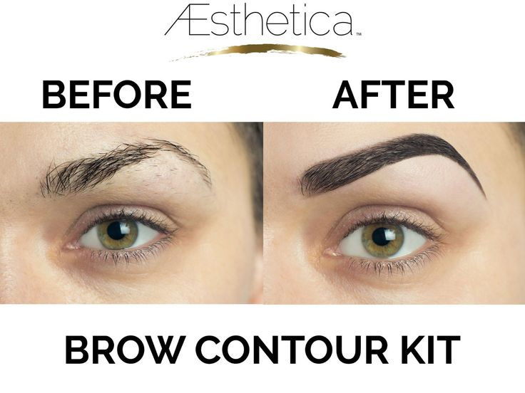 Aesthetica Cosmetics Brow Contour Kit - 15-Piece Contouring Eyebrow Makeup Palette - Includes Powders, Wax, Stencils, Spoolie/Brush Duo, Tweezers & Step-by-Step Instructions - Vegan & Cruelty Free: Amazon.co.uk: Beauty