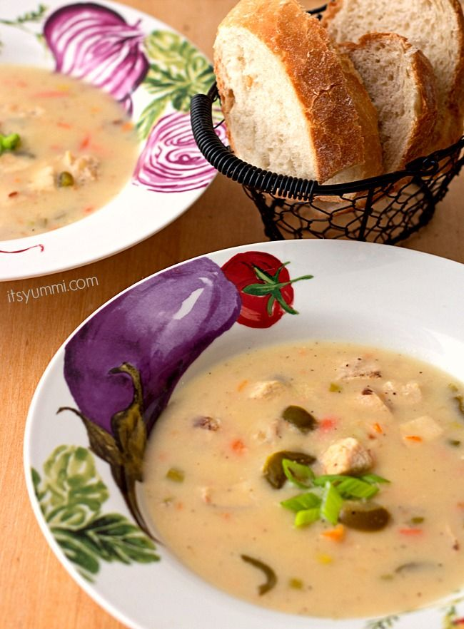 Jalapeno Chicken Beer Cheese Soup Recipe from ItsYummi.com - This zesty soup will warm you up on the coldest of days! #MyCopps #Shop #Cbias