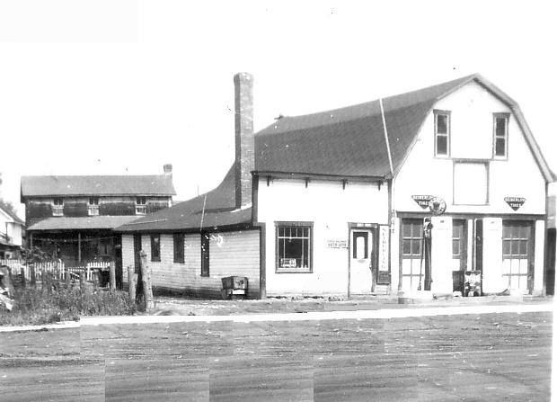 Garage Albert rue du pouvoir dans les années 50s