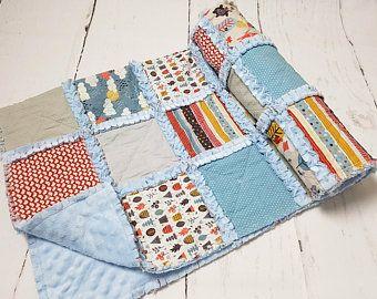 Baby quilt - quilt minky - moderno bambino trapunta - regalo dell'acquazzone del bambino - ragazzo presepe trapunta-cloud biancheria da letto - bambino ragazzo regalo - coperta del bambino del ragazzo - bambino