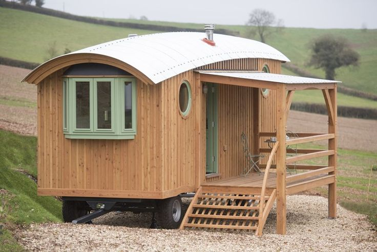 New! A great choice for a couple or a family with young children, The Wagon with Faraway Views takes Glamping to a really high level, complete with wonderful countryside views, incredible craftsmanship and real style and comfort inside. #Holiday #Glamping #Devon #Luxury #Countryside #Views #Wonderful #Wagon #Style #Comfort