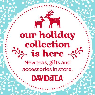 The new Holiday Collection has arrived at David's Tea!