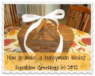 How to make a honeymoon basket www.toquascrafts.com