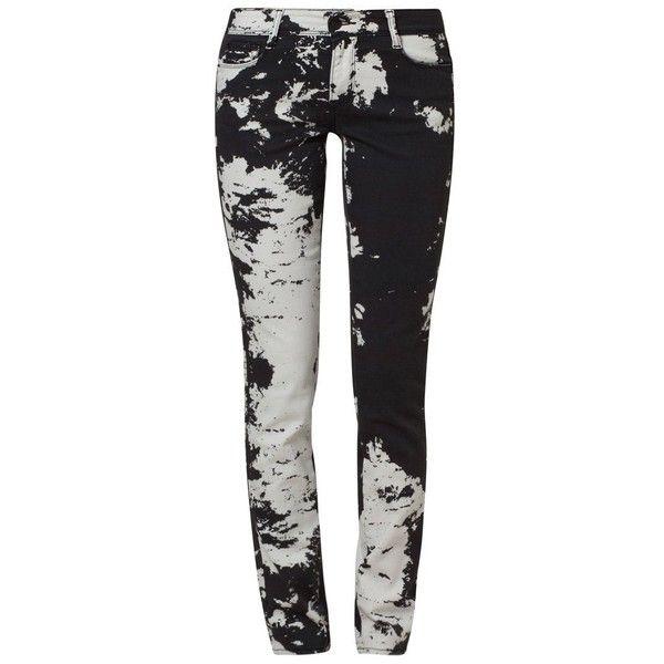 Cimarron JACKIE TIE AND DIE Slim fit jeans/white (€115) ❤ liked on Polyvore featuring jeans, pants, bottoms, black, slim skinny jeans, tie-dye jeans, slim leg jeans, low jeans and cimarron jeans