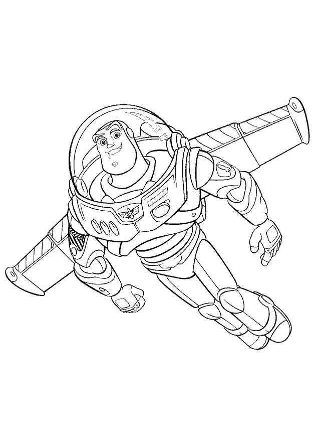 Buz Lightyear Coloring Page Ilustrasi Karakter Ilustrasi