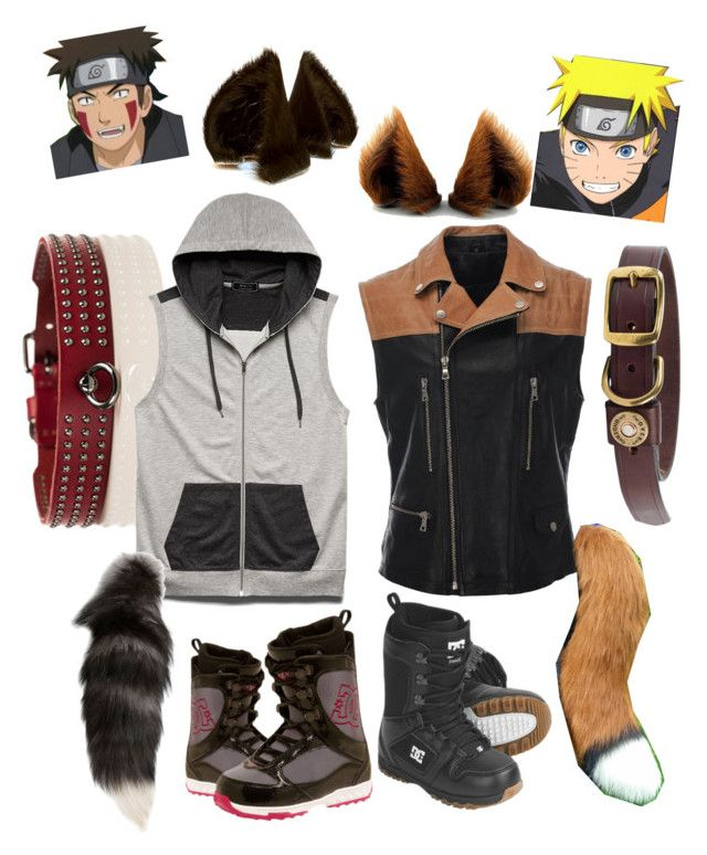 """Kiba & naruto - off to the races"" by jessababy1313 ❤ liked on Polyvore featuring 21 Men, Alexander McQueen, DC Shoes, anime, naruto, kiba, wolfboy and foxboy"