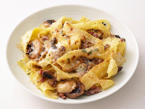 Cheesy Mushroom Pappardelle Recipe : Food Network Kitchens : Food Network - FoodNetwork.com