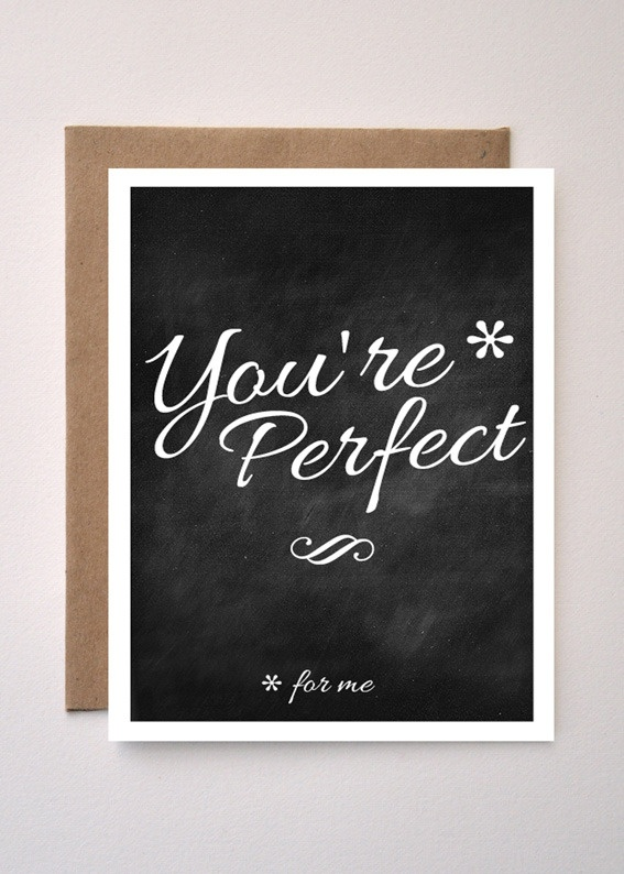 'Your perfect' Valentines Day / Greeting card