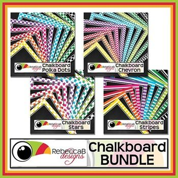 Chalkboard Bundle contains 80 framed, chalkboard backgrounds.  40 U.S. Letter size and 40 square size with 10 different colors.  Place text and clip art over the top to create fun product covers, worksheets, activities, posters and other teaching resources.