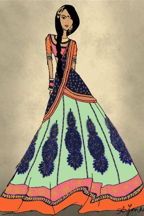 Indian wedding dress art
